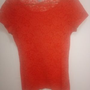 Forever 21 Tops - Forever 21 Orange lace Top